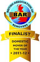 British Association of Removers Domestic Mover of the year finalist logo
