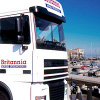 britannia removals truck in the mediteranean