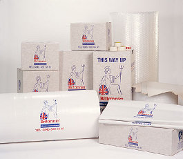removal boxes and packing materials